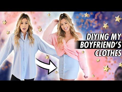 Transforming My Boyfriend's Clothes! DIY Hacks