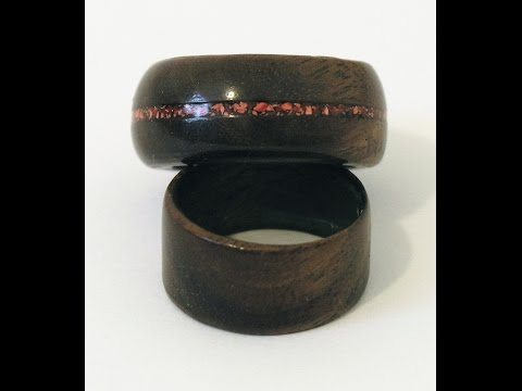 Woodturners Journal:  Wood Rings with Coral Inlay