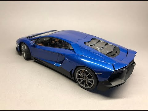 Aoshima: Lamborghini Aventador LP720-4 50th Anniversario Full Build Step by Step