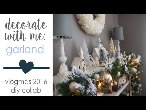 DECORATE WITH ME: Christmas Garland | DOLLAR STORE DIY | Collab