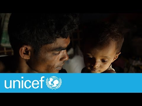 This Rohingya refugee will do anything to protect his baby son | UNICEF