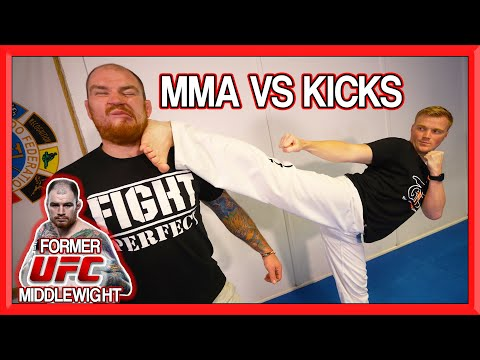 MMA vs Kicking with Fight Perfect TV  | How To Defend Kicks in MMA