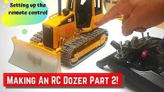 RC bull dozer Build part 2 (remote control setup)