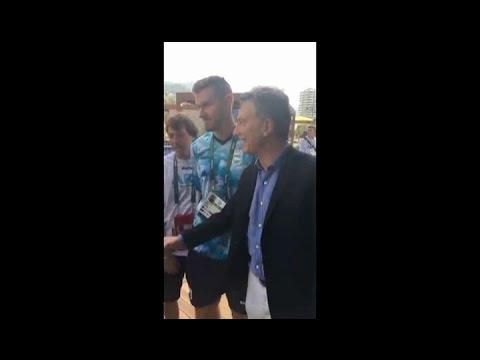 Macri visitó la Villa Olímpica y dejó su mensaje para los deportistas argentinos