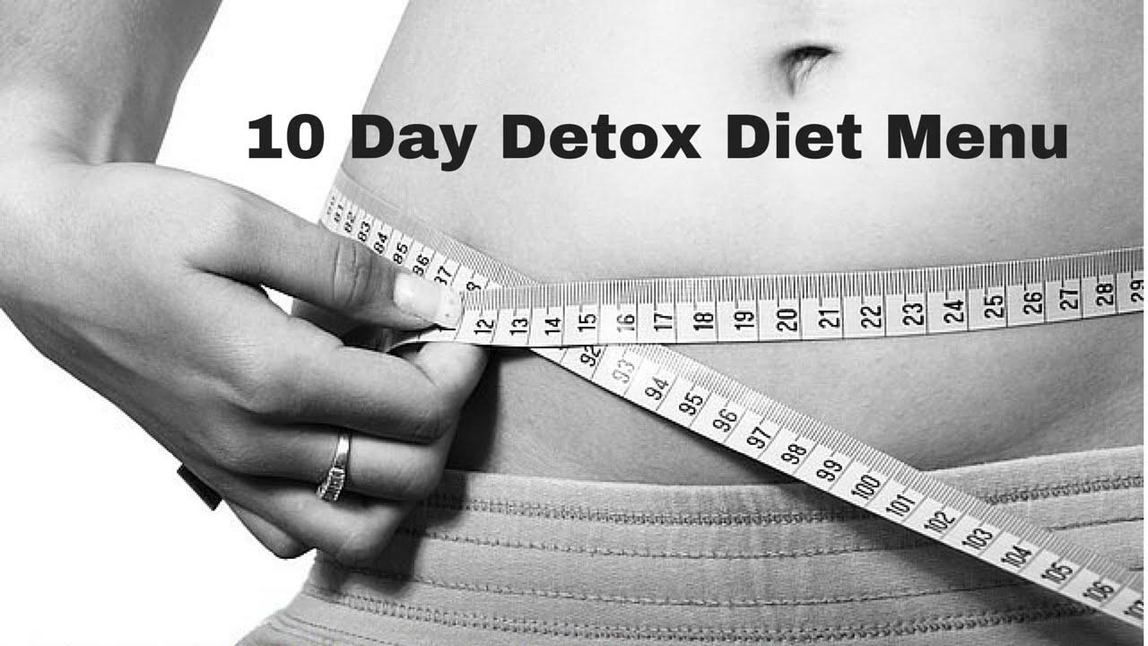 10 day detox diet menu pdf