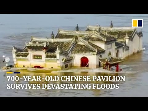 China's 700-year-old pavilion withstands numerous floods on Yangtze River