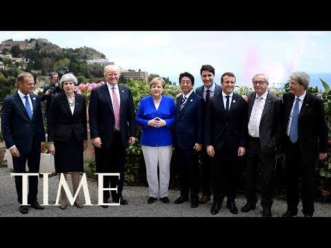 President Trump & Other World Leaders Attend Group Of Seven Summit Welcome Ceremony | TIME