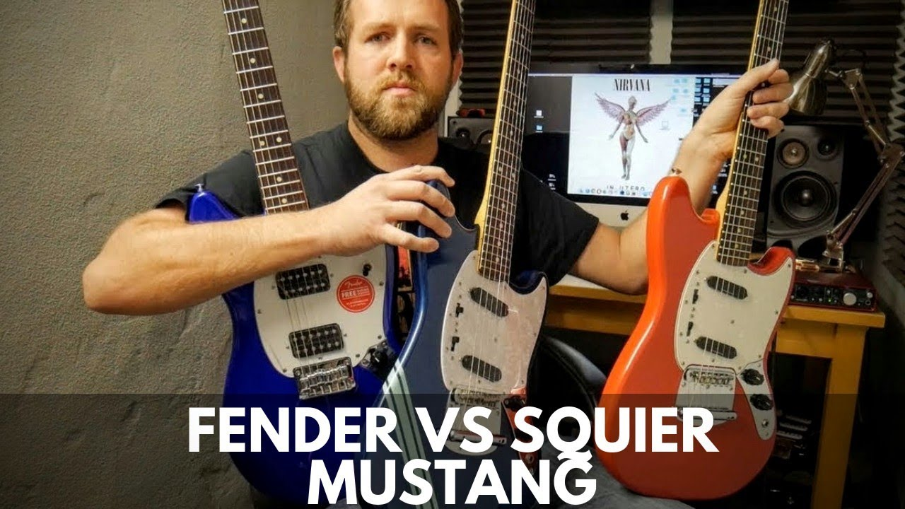 Fender Vs Squier Mustang Comparison Youtube