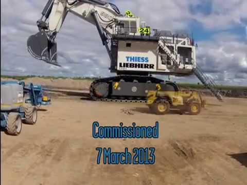Timelapse Proses Perangkaian Liebherr R9800 World Biggest Mining Excavator Youtube