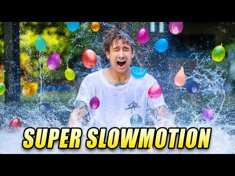 330 WASSERBOMBEN in SLOWMOTION  | Julien Bam