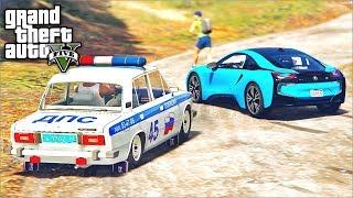 ПОГОНЯ В GTA 5 - ПОГОНЯ НА BMW i8! БМВ i8 УЕЗЖАЕТ ОТ КОПОВ!⚡ГАРВИН