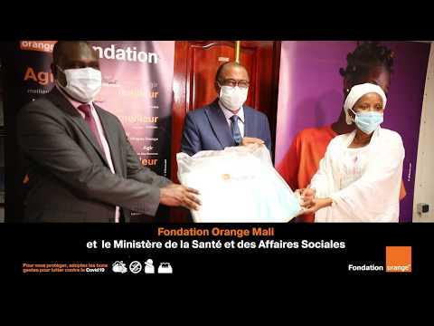 Remise de don COVID 19 Fondation Orange mali RS