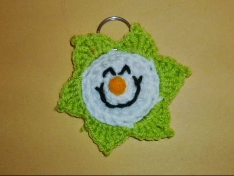 Schlüsselanhänger Sonne Häkeln Spiegelbaumler Crochet Wolle
