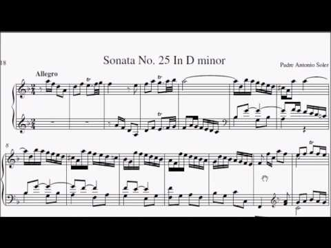 ABRSM Piano 2019-2020 Grade 8 A:8 A8 Soler Sonata in D Minor R.25 No.12 Sheet Music