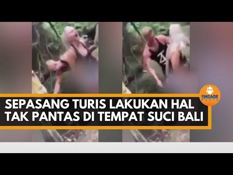 Sepasang Turis Lecehkan Tempat Suci Di Bali