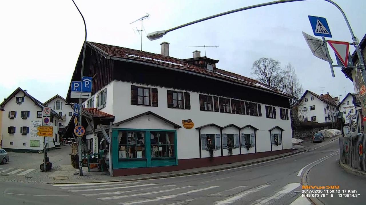 D Markt Bodenmais Landkreis Regen Fahrt Durch Den Ort Februar