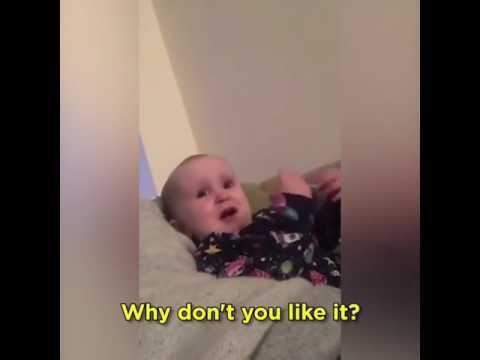 Duş yapmak istemeyen bebek babasına ne diyor ?