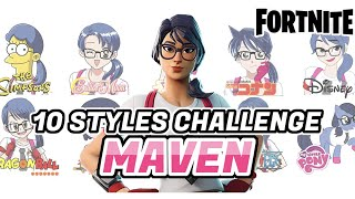 [Fortnite] 10 Art Styles Challenge - France Comment dessiner MAVEN (fr) Peinture de vitesse (peinture de vitesse) Peau de Fortnite procréer