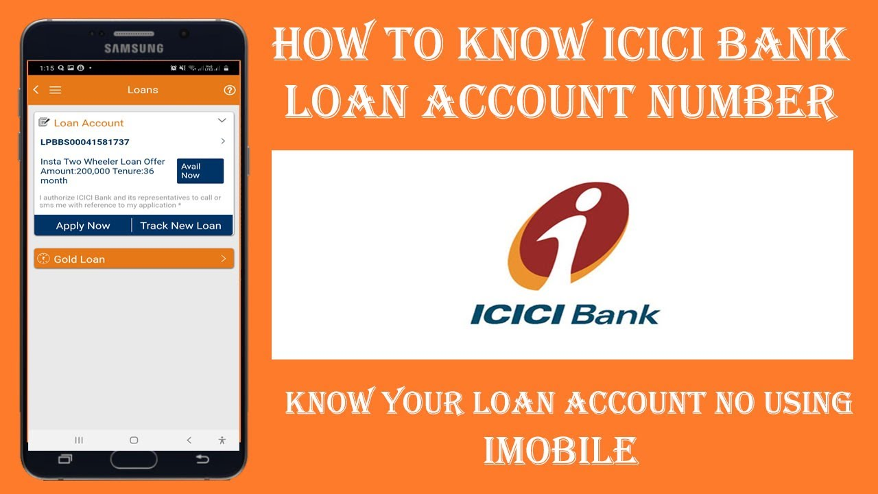 How To Find Icici Bank Loan Account No Icici Bank Loan Account Status Youtube