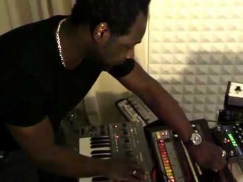 A Guy Called Gerald plays analogue in his studio