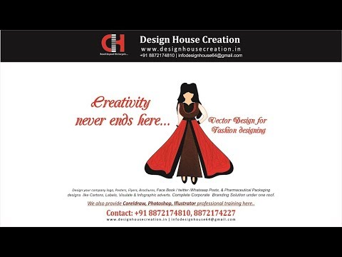 Fashion Designing Vector Clip Art In Corel Draw X7 Youtube