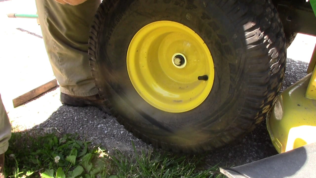 how to remove front and rear tires from john deere s240 lawn tractor youtube. Black Bedroom Furniture Sets. Home Design Ideas
