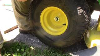 How to Remove Front and Rear Tires from John Deere S240 Lawn Tractor