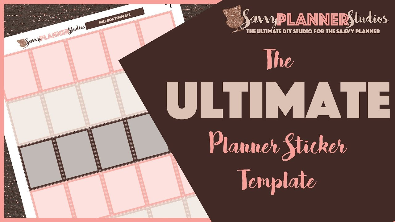 diy planner sticker template tutorial | how to edit and design your