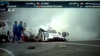 Mark Webber Crash Interlagos WEC 2014