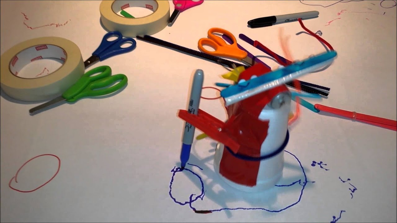 Scribble Drawing For Kids : Diy scribble robot easy for kids to build youtube