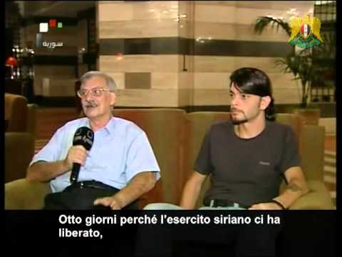 INTERVISTATI I DUE ITALIANI RAPITI DAI TERRORISTI IN SIRIA, INTERVIEW TWO ITALIANS KIDNAPED IN SYRIA