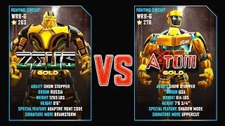 Real Steel WRB EPIC - Atom VS Zeus White   Zeus GOLD VS Atom