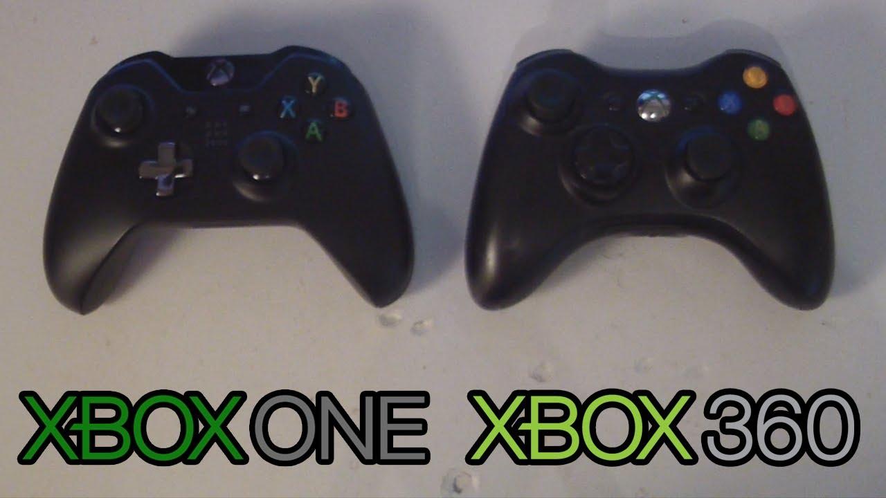 Xbox One Controller VS Xbox 360 Controller - Vergleich ... Xbox One Vs Xbox 360 Controller
