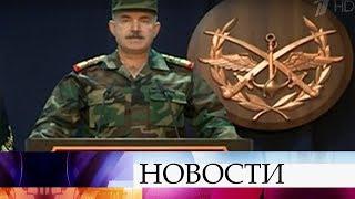 Минобороны Сирии: Военным удалось отразить основную массу ракет, направленных на Дамаск.