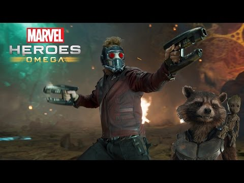 Marvel Heroes Omega GUARDIANS OF THE GALAXY Star-Lord and Rocket Raccoon Stream (Playstation 4 Pro)