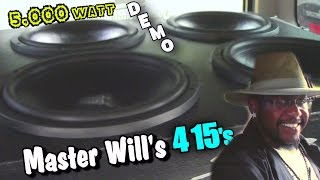 "ROLLING Thunder Skar Audio DEMO w/ Master Wills 15"" DDX Subwoofers & CRAZY BELLY DANCING BASS FLEX"