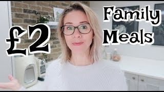 £2 FAMILY MEALS | COOKING ON A BUDGET | KERRY WHELPDALE