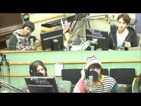 BTOB Minhyuk singing in Super Junior Kiss The Radio
