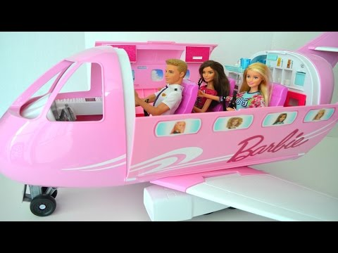 Aviao da Barbie Novo Abrindo Brinquedo Review do Novo Jato da Barbie!!! Em Portugues Tototoykids