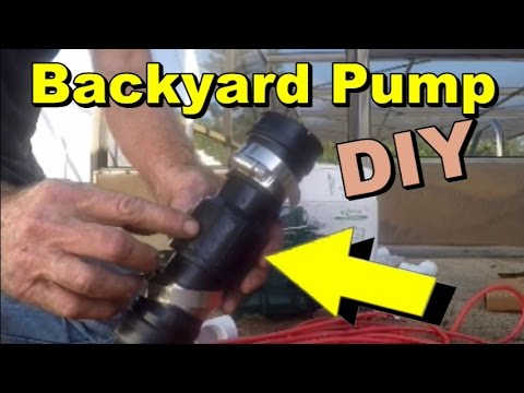 Sump Pump Set Up for Backyard Flood, Yard Drain, French ...