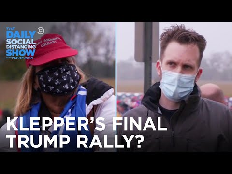 Jordan Klepper Hits One Last Trump Rally Before the Election   The Daily Social Distancing Show