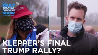 Jordan Klepper Hits One Last Trump Rally Before The Election | The Daily Social Distancing Show