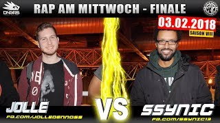 RAP AM MITTWOCH DÜSSELDORF: JOLLE vs SSYNIC 03.02.18 BattleMania Finale (4/4) GERMAN BATTLE