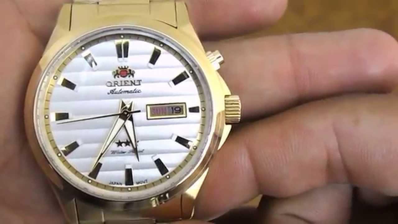 c20f62e40d6 Relógio Orient Automático 3 Estrelas 469GP042. Classe A Joias e Relógios.