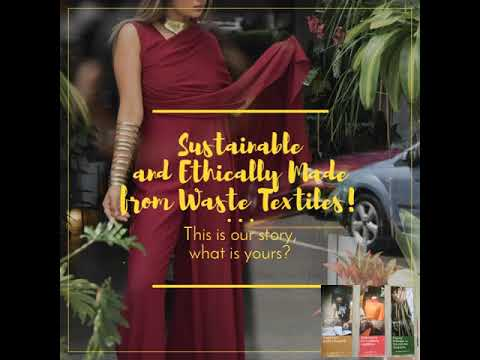 Sustainable and Ethically Made from Waste Textiles!