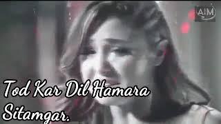 Tod Kar dil Hamara Sitamgar    Junaid Sultani Ghazal    Sad Ghazal 💕💕