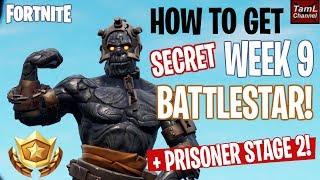 How to Get SECRET Week 9 BATTLESTAR + STAGE 2 PRISONER! (Fortnite Season 7 Snowfall)