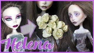 """HELENA"" ~ Monster High Spectra Repaint 👻🌫  Ghostly doll custom!"