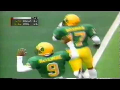 Oregon CB Rashad Bauman big hit on UCLA QB Cade McNown 10-11-1997