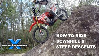 HOW TO RIDE STEEP DESCENTS & DOWNHILLS: Cross Training Enduro thumbnail